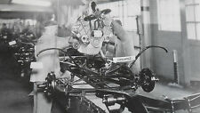 "1932 Ford Assembly Line, engine to frame 12X18"" Black & White Picture"