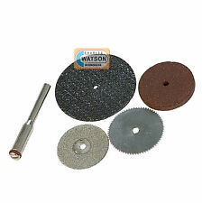 5 Piece Resin Diamond Cutting Disc Kit Dremel Compatible Multi Tool Accessories