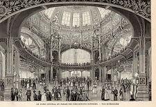 PARIS EXPO UNIVERSELLE DOME CENTRAL DU PALAIS EXPOSITIONS DIVERSES IMAGE 1889