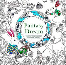 Fantasy Dream Based on Alice in Wonderland Inky Anti-stress Adult Colouring Book