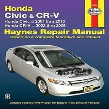 Haynes Repair Manual~Honda Civic 2001 thru 2010 & CR-V 2002 thru 2009~BRAND NEW!
