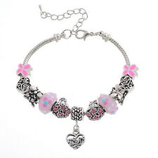 BD European Charm Bracelet Pink Love Special Mother's Day Gift Jewelry Design