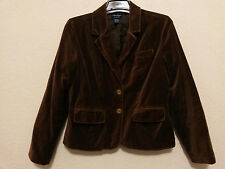 American Eagle Outfitters Womens Blazer Size Large Cotton Velvet Brown Jacket