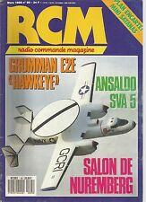 "RCM N°95 PLAN : MINI SATANAS / GRUMMAN E2E ""HAWKEYE"" / ANSALDO SVA 5 / TRD A40"