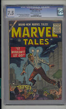 Marvel Tales #142 CGC 7.5 VF- Unrestored Marvel PCH Pre Code Horror CR/OW Pages