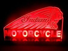 Indian Motorcycles Logo LED Neon Light TableTop Man cave room Garage Signs Gift