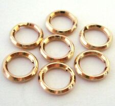 12pc 7mm 14k Yellow Gold Filled Split Ring strong jump ring Charm Connector GR37