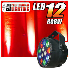 RGBW Color Mixing LED Par Can - 12 1-watt LEDs - Red, Green, Blue and White