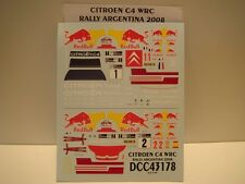 DECALS 1/43 CITROËN C4 WRC #1 et #2  RALLYE D'ARGENTINE 2008   - COLORADO  43178