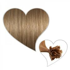 25 Bonding-Strähnen karamellblond #14 35 cm Echthaar Remy Hair Extensions