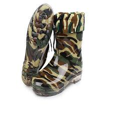 Men's Short Rain Boots Winter Keep Warm Waterproof Rubber Sole Anti-skid Shoes