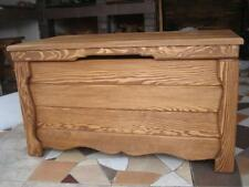 Wooden Blanket Box Coffee Table Trunk Vintage Chest Wooden Ottoman Toy Box (GO3)