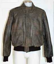 BANANA REPUBLIC VINTAGE FLIGHT BOMBER JACKET / LEATHER / MEN 46 / MINT