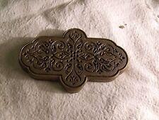 Superbe Ancien fer à dorer en bronze plaque à dorer reliure vieux livres