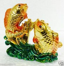 "Feng Shui/ Vastu Victory Gold Fish Success Positive Vibration Wealth 2.75""/7cm"