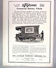 Autocar Truck PRINT AD - 1916 ~~ commercial delivery vehicle, American Express
