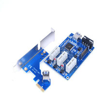 PCI-E Express HUB Riser Card 1X to 3 Port 1X Switch Multiplier USB Cable Useful
