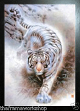 BLACK FRAMED TIGER / CHEETAH / WOLF+ EAGLE - 3D FLIP PICTURE 300mm X 400mm