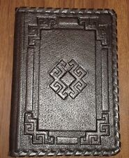 Leather Passport Cover, Holder, gift, craft, black genuine leather,