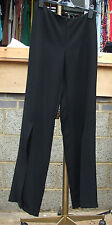 Joseph Ribkoff BNWT UK 10 Exquisite Split Leg Black Elegant Trousers Exceptional