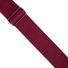 Extra Wide High Quality Cotton Guitar Strap Burgundy regal royal deep red soft