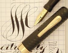 CONKLIN 40 CRESCENT FILLER c1920s, NEAR MINT, LARGE PEN, EXTREMELY FLEXIBLE NIB