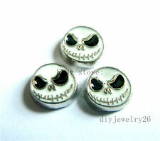 10pcs haloween skull Floating Charms Fits For Glass Living Memory Locket FC669