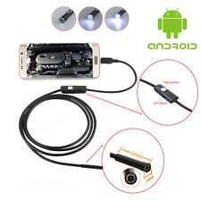 Car Industrial Tube 7mm Waterproof Endoscope Inspection Camera 6 LED For Android