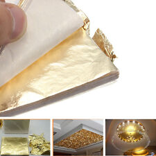100PCS 14x14cm LARGE GOLD LEAF SHEETS/LEAVES SHEETS GILDING ART CRAFT SUPPLIES