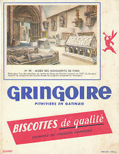 Buvard Vintage  Biscottes Gringoire