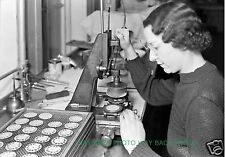 """RARE 1936 PHOTO AT HAMILTON WATCH COMPANY IN LANCASTER, PA - 8"""" by 10"""" - DIALS"""