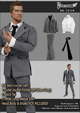 CC139 1/6 Action Figure Clothing Silver/Grey Men Suit Set for HOT TOYS,PHICEN