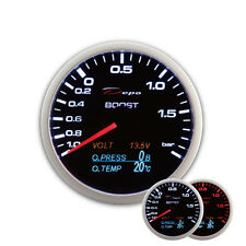 Depo Racing 4in1 Ladedruck Anzeige BLACK Instrument Boost gauge Multifunktion