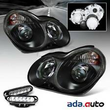 2001-2005 Mercedes Benz W203 C-Class C230/C240/C320 Headlights + LED Fog Lights