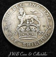 1922 George V .500 Silver English Shilling Coin - Great Britain
