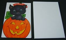 7Happy Halloween Kitty n Pumpkin Greeting Cards With Envelopes for Granddaughter
