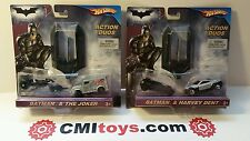 Batman & Joker Harvey Dent dark knight Hot Wheels action duos Batcycle Batmobile