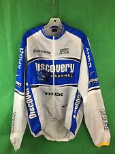 NIKE DISCOVERY CHANNEL/Trek CYCLING LONG SLEEVE WINDBREAK MENS XL MADE IN ITALY