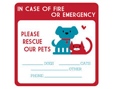 Two Emergency Pet Rescue Decals FREE SHIPPING dog decal cat sticker pet sticker