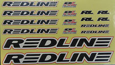 Redline Frame & Fork Sticker Set Decals Black Replacement Set for BMX Bike