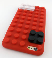 RED LEGO TOY BLOCKS SOFT SILICONE RUBBER SKIN CASE COVER APPLE IPHONE 6 6S 4.7