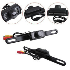 Waterproof CMOS Night Vision Car License Plate Rear View Reverse Wired Camera UK