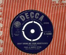 "Paul And Barry Ryan Don't Bring Me Your Heartaches UK 45 7"" single"