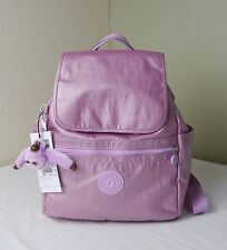 Kipling BP4019 Metallic Pink Plum Ellaria Backpack