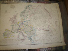 Europe by JW Lowry map DISPATCH ATLAS 1863 Measures app60x 42.5cm framed 20 more