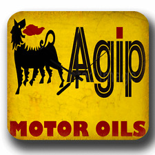 AGIP MOTOR OIL WALL CLOCK VINTAGE RETRO GARAGE WORKSHOP TIN METAL SIGN CLOCK
