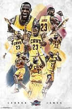 LEBRON JAMES - CLEVELAND CAVALIERS POSTER - 22x34 NBA BASKETBALL 14304