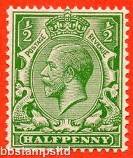 """SG. 418 c. ½d green. """" NO WATERMARK """". A superb UNMOUNTED MINT example."""