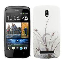 kwmobile Strass Schutz Hülle Gras für HTC Desire 500 Case Tasche Cover Bumper