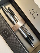 NEW PARKER URBAN STAINLESS STEEL CT ROLLERBALL PEN-FRANCE-BLACK INK-GIFT BOX